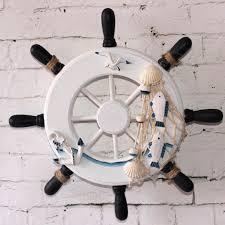 wooden boat wall 9 wooden boat ship steering wheel fishing net home wall