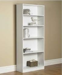 Adjustable Shelves Bookcase Modern Bookcase 5 Shelf Display Stand Bookshelf Room Divider Wood