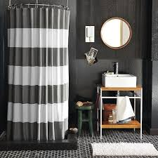 Grey Bathroom Curtains Gray And White Striped Shower Curtain In Modern Bathroom Design