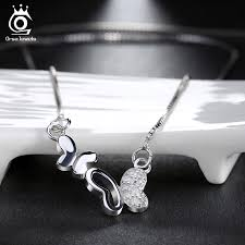 luxury silver necklace images Double butterfly necklace luxury aaa austria crystal and silver jpg