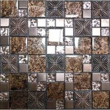 Wholesale Glass Mosaic Tile Squares Red Rose Pattern 304 by Blue Glass Mosaic Tile Backsplash Pyramid 3d Shower Wall Tiles