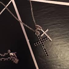 double cross necklace images Swarovski jewelry crystal double cross necklace poshmark jpg