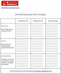 30 60 90 day sales plan free u2013 mr dashboard