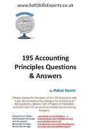 195 accounting principles questions and answers for accounting exams u2026