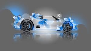 Porsche 918 Blue Flame - porsche 918 spyder fantasy flowers 2013 el tony