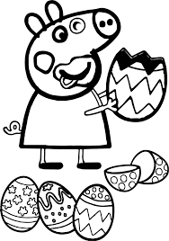 abstract easter coloring pages astonishing peppa pig funny eating easter egg coloring page