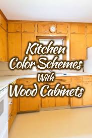 how to wood cabinets kitchen color schemes with wood cabinets 30 picture