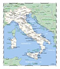 Europe Map Cities by Detailed Map Of Italy With Major Cities Italy Europe