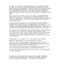 organizational history ypsilanti gleanings