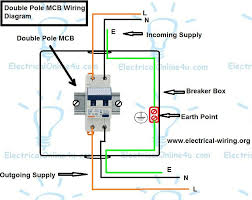 double pole mcb wiring diagram with video tutorial guide