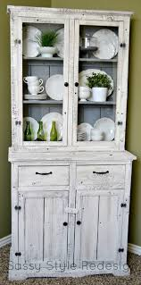 Dining Room Hutch Ideas Sassy Style Diy Barnwood Hutch Makeover With Annie Sloan Chalk