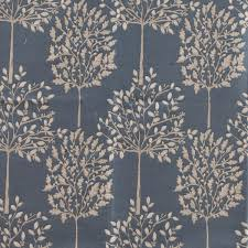 Fabric For Curtains Orchard Curtain Fabric In Indigo Chenille Woven Fast Uk