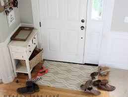 diy shoe rack by front door design