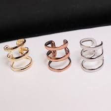 clip on earrings for men 2pcs 1 pair new rock ear cuff wrap earrings no piercing
