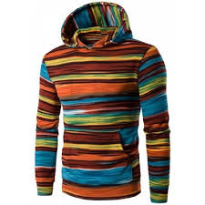 orange hooded color block stripe pullover hoodies 2xl 22 82