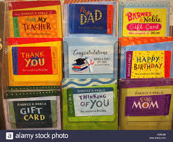 prepaid gift cards barnes noble prepaid gift cards display usa stock photo