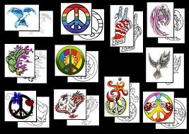 peace symbol tattoos what do they mean peace sign tattoo