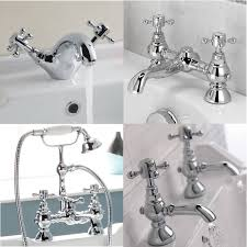 enki belgravia traditional bath filler shower basin mixer bath tap
