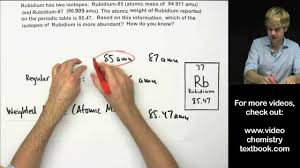 how to calculate atomic mass practice problems youtube
