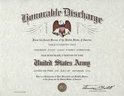 honorable discharge certificate us army honorable discharge certificate