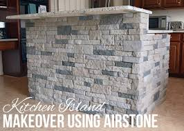 get tutorial of diy kitchen island images faux stone kitchen island airstone faux stone and breakfast bars
