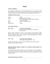 sle electrical engineering resume internship experience electronic engineering resume sle free resume exle and