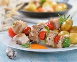 cuisiner espadon recette brochettes d espadon grillées à l orientale au beurre de