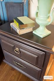nightstand makeover with martha stewart metallic glaze atta