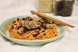 vegan mushroom gravy recipe dishmaps this rawsome vegan life yam noodles with sweet sauce marinated