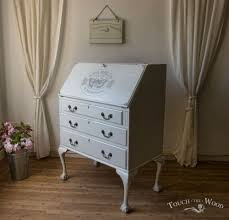 bureau writing desk shabby chic writing desk bureau no 15 touch the wood