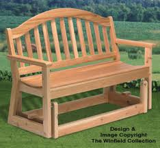 Garden Loveseat All Yard U0026 Garden Projects Loveseat Glider Wood Project Plan