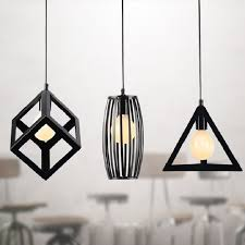 Light Bulb Shades For Ceiling Lights Vintage Retro Pendant Lights Led L Metal Cube Cage L Shade