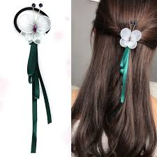 ribbon ponytail m mism korean style hair accessories women ribbon ponytail
