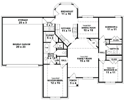 5 bedroom single story house plans astounding one story one bedroom house plans images best
