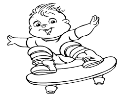 awesome printable cartoon alvin chipmunks coloring pages