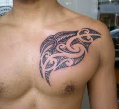 hawaiian tattoo on man chest tattooshunt com