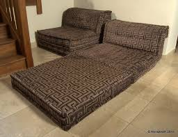 original roche bobois mah jong sofa futon bed in bespoke art