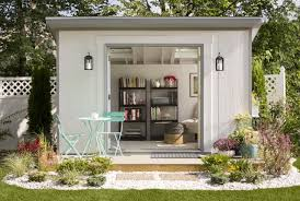 create a she shed that u0027s all about maximizing the outdoor space