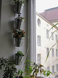 Ikea Hanging Planter by Ikea Fintorp Vertical Garden Idea Could Use Outside As Well As