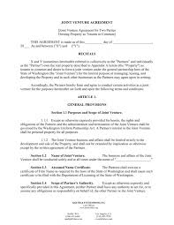 free sample joint venture agreement template 10 joint venture