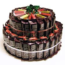 candy gift baskets chocolate bar candy cake hayneedle