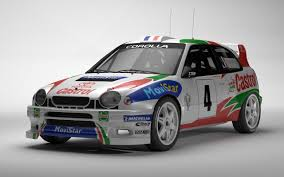 toyota rally car corolla wrc rally 3d obj