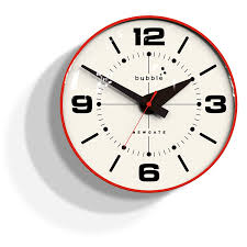 newgate bubble wall clock red body amazon co uk kitchen u0026 home