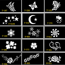 15 pcs stencils for tattoo henna tattoo stencil face painting