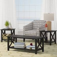 3 piece black coffee table sets black coffee table sets you ll love wayfair