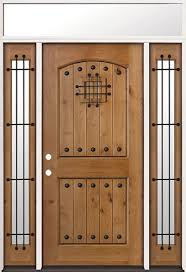 Prehung Exterior Door Discount Rustic Knotty Alder Prehung Wood Door Unit With Transom 20