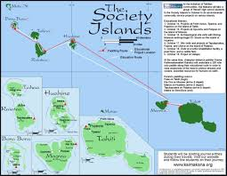 Map Of Bora Bora Kai Makana Tahiti 2001