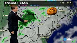 halloween weather forecast ghastly for deep south great lakes