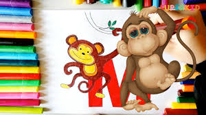 letter m monkey coloring page free printable letter m coloring