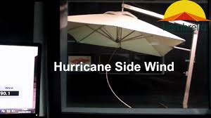 Bunnings Cantilever Umbrella by Bambrella Hurricane Side Wind Youtube